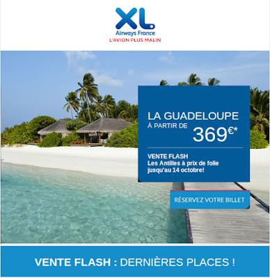 vente flash xl airways billets antilles 369 euros air bons plans promos. Black Bedroom Furniture Sets. Home Design Ideas