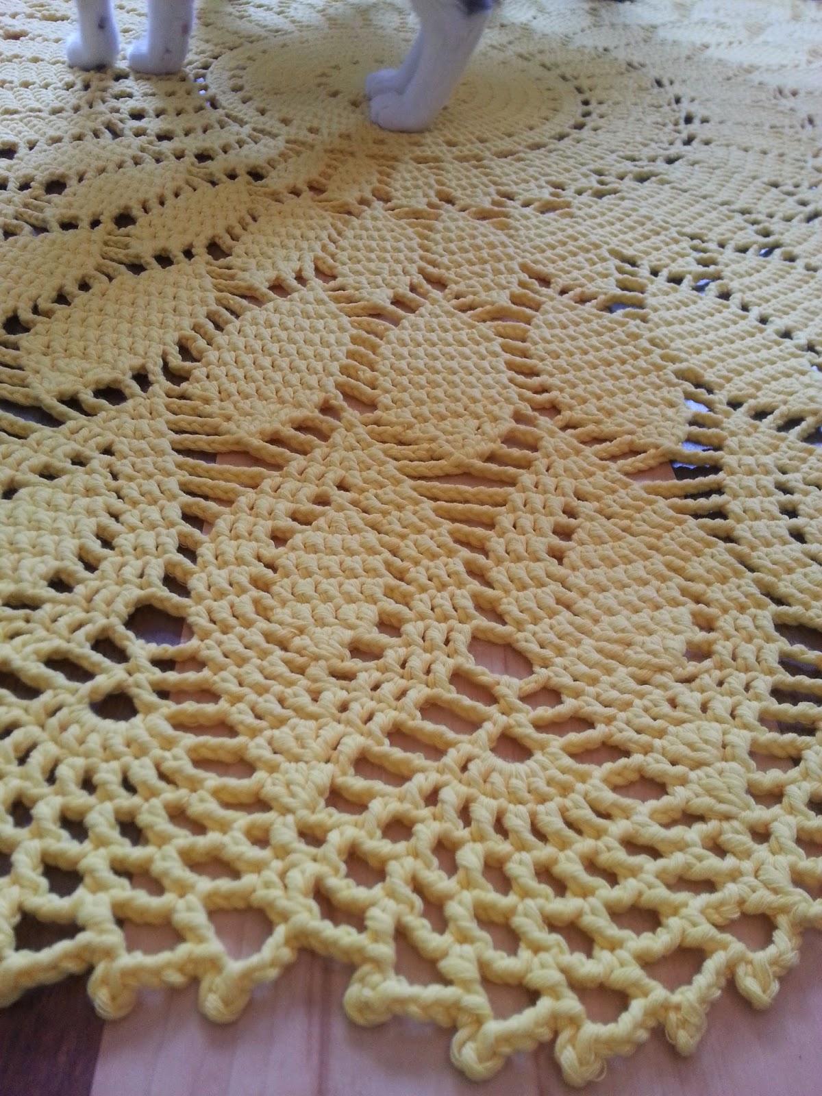 tricot napperon tapis phildar