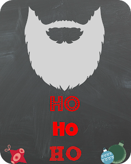 Santa's Beard Printable from SoHeresMyLife.com. Check back every day until December 23rd for a new and free printable!