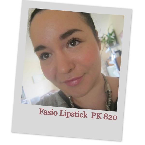 Japanese lipstick Fasia PK 820 swatches
