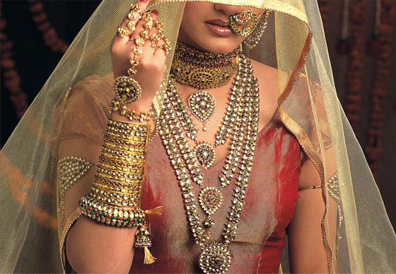 indian bridal jewelry gold