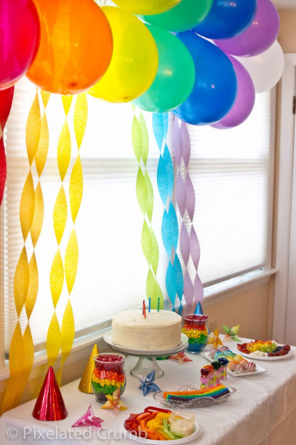 Eliana Wanted A Rainbow Birthday Party For Her 4th Like I Mention In The Post There Are Millions Of Ideas Out But What