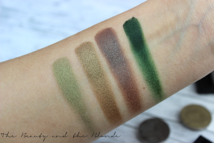 7 Shades Of Green Lidschatten, Swatches, MAC, Sleek, Wet n Wild