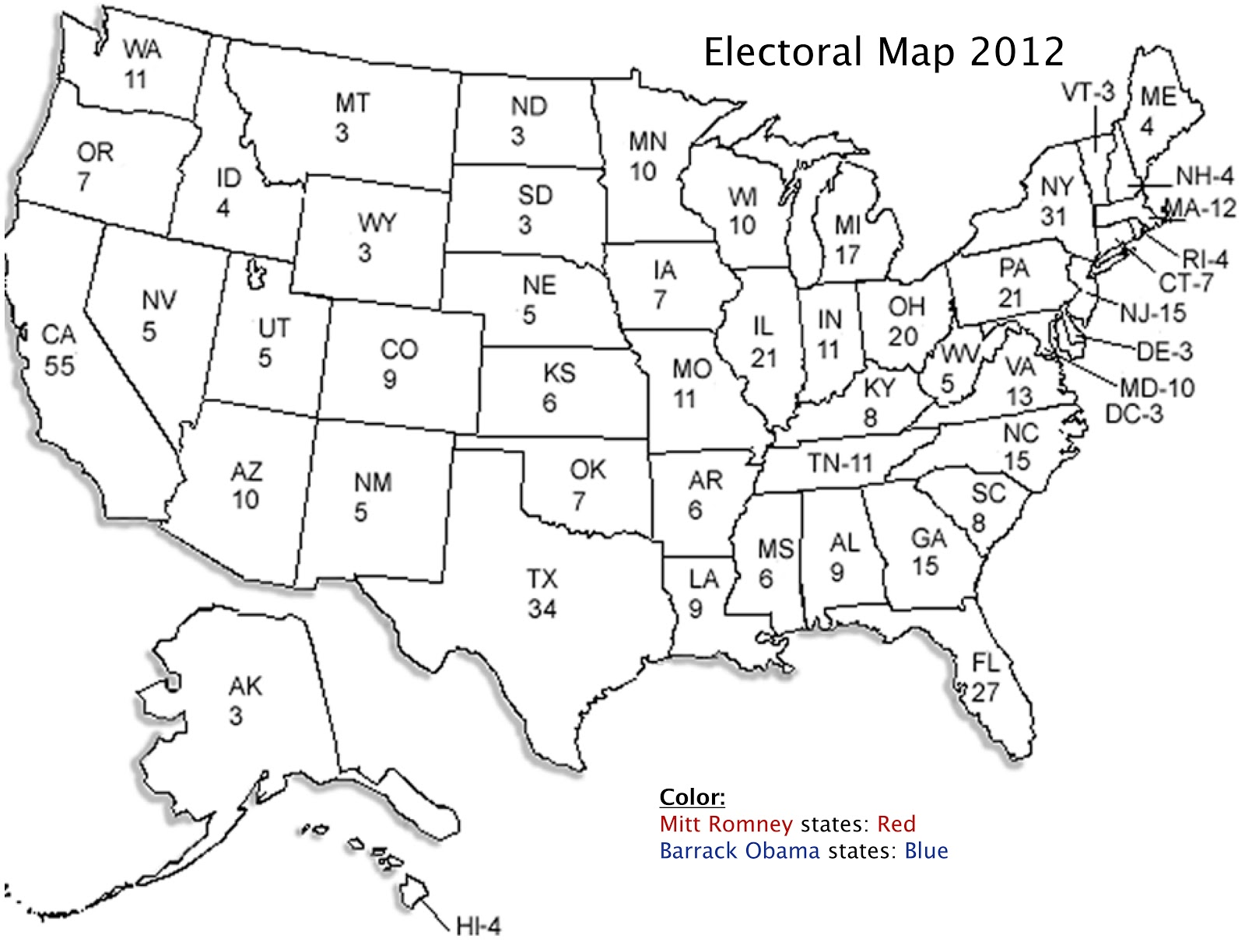 Electoral College Map Predictions 2016 Coloring Page Coloring Page