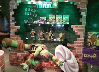 Ninja turtles merchandise display toys action figures nick tmnt jpg