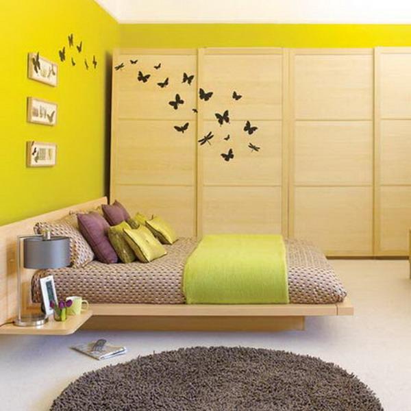 Cr atives id es de papier peint chambre d cor de maison for Papiers peints chambre