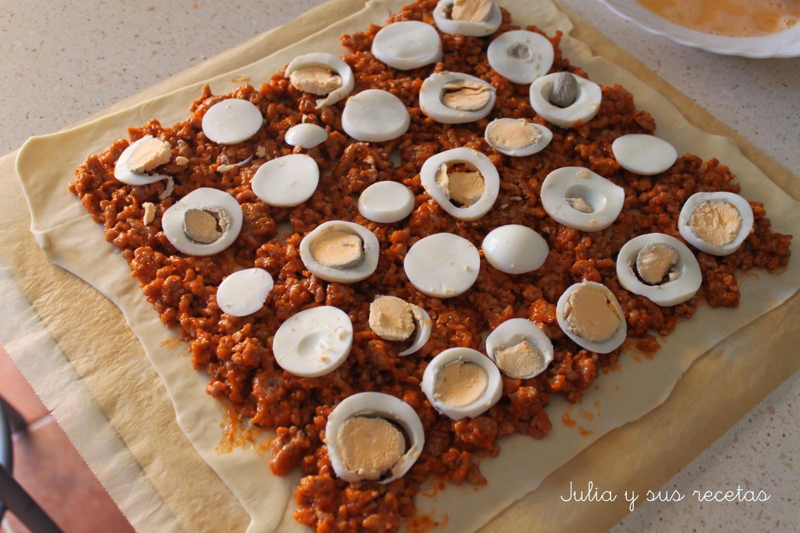 Julia y sus recetas hojaldre de carne picada con tomate - Que cocinar con carne picada ...