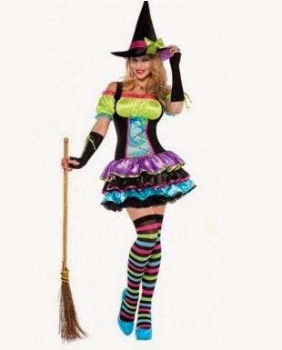Realiza este disfraz de brujita multicolor
