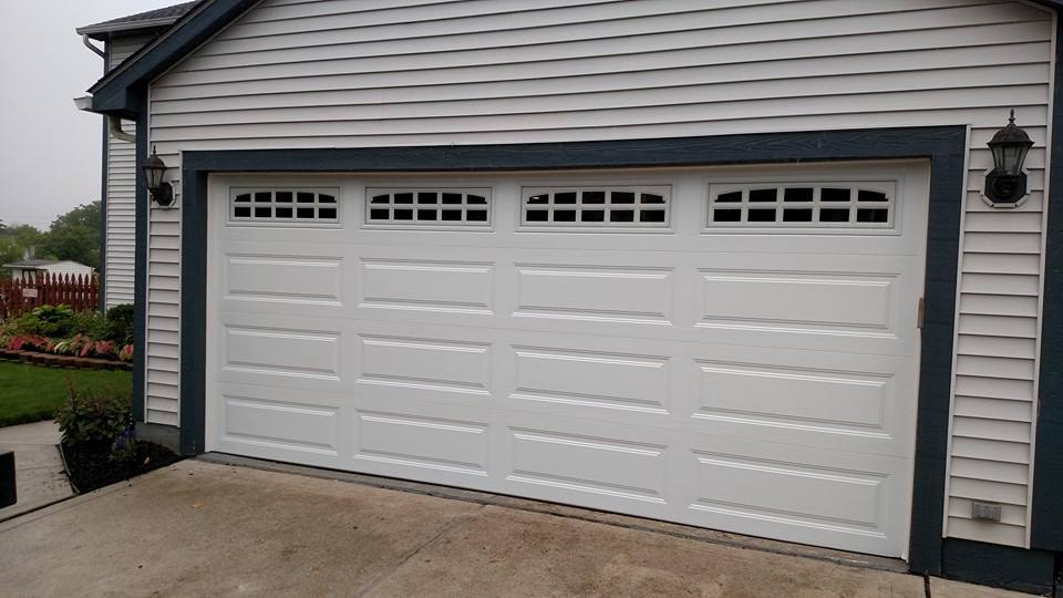 Get The Latest New Color From Clopay! This New White Is Called Glacier  White! The Top Door Is A Clopay Gallery Series Glacier White Garage Door  With Long ...