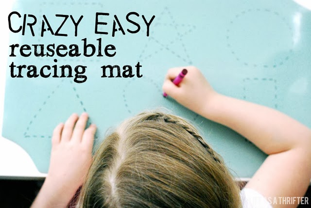 Crazy easy reusable tracing mats