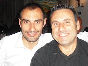 Foto con el gran poeta Xosé López