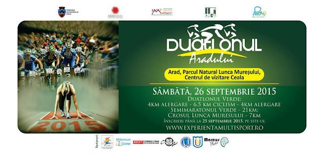 Duatlonul Aradului. Invitaţie la ciclism şi alergare. 26 septembrie 2015