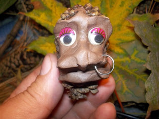 Голова африканки из пластилина