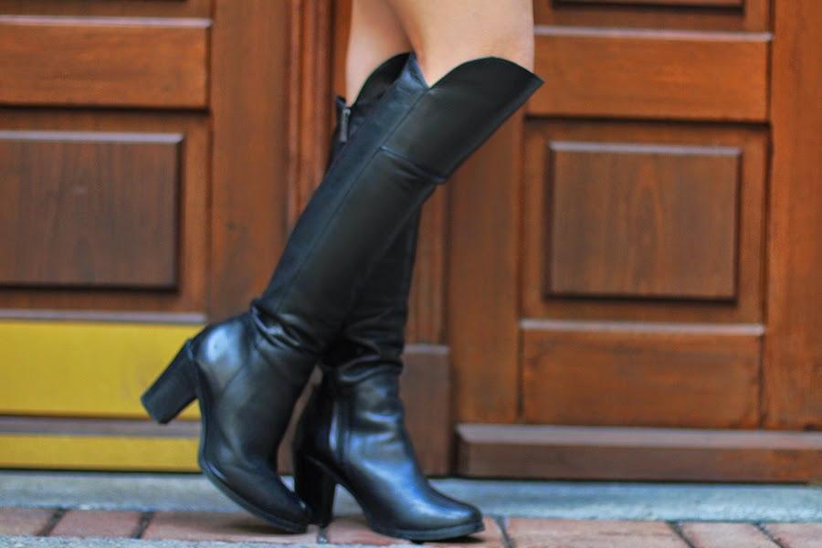 over knee boots scharz