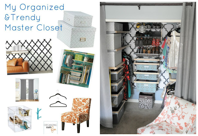Her master closet is trendy and organized :: OrganizingMadeFun.com