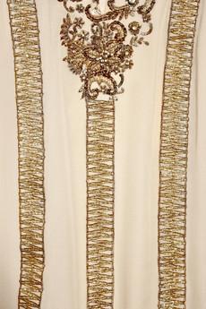 Embroidered silk-chiffon kaftan