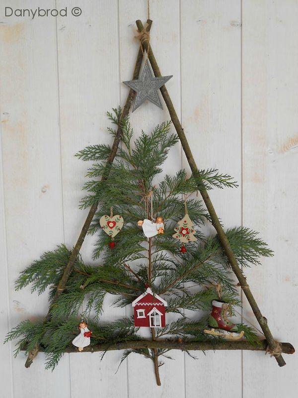 Decoration De Noel Avec Des Branches De Sapin Cadeaux De Noël