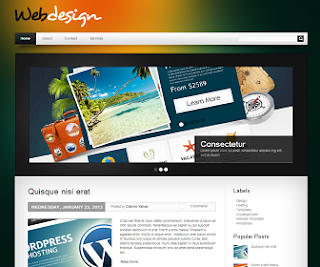 WebDesign+Blogger+Template