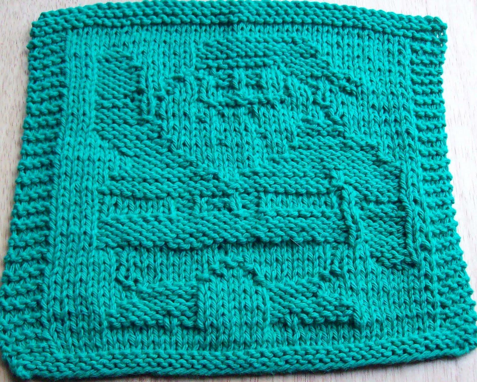 DigKnitty Designs: Santa Waving Knit Dishcloth Pattern