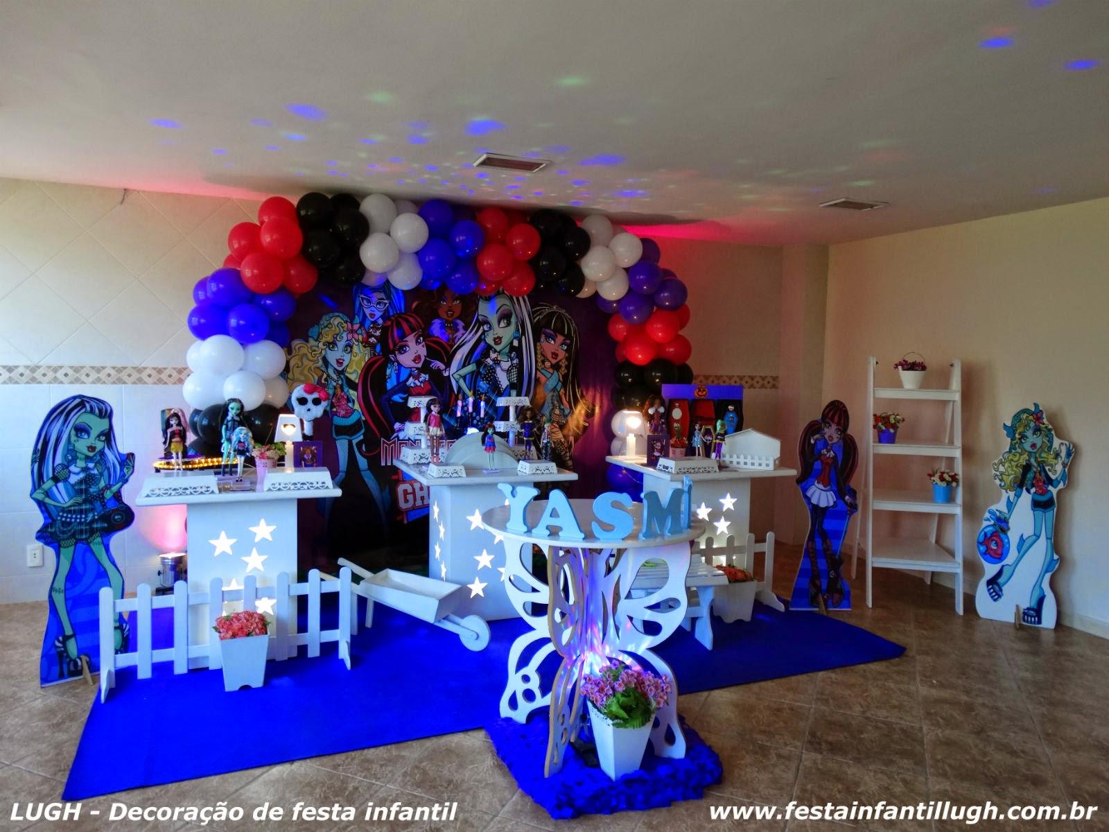 Tema infantil Monster High - decoração provençal para festa de aniversário.