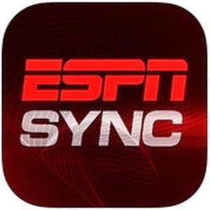 Aplicativo para iOS ESPN Sync