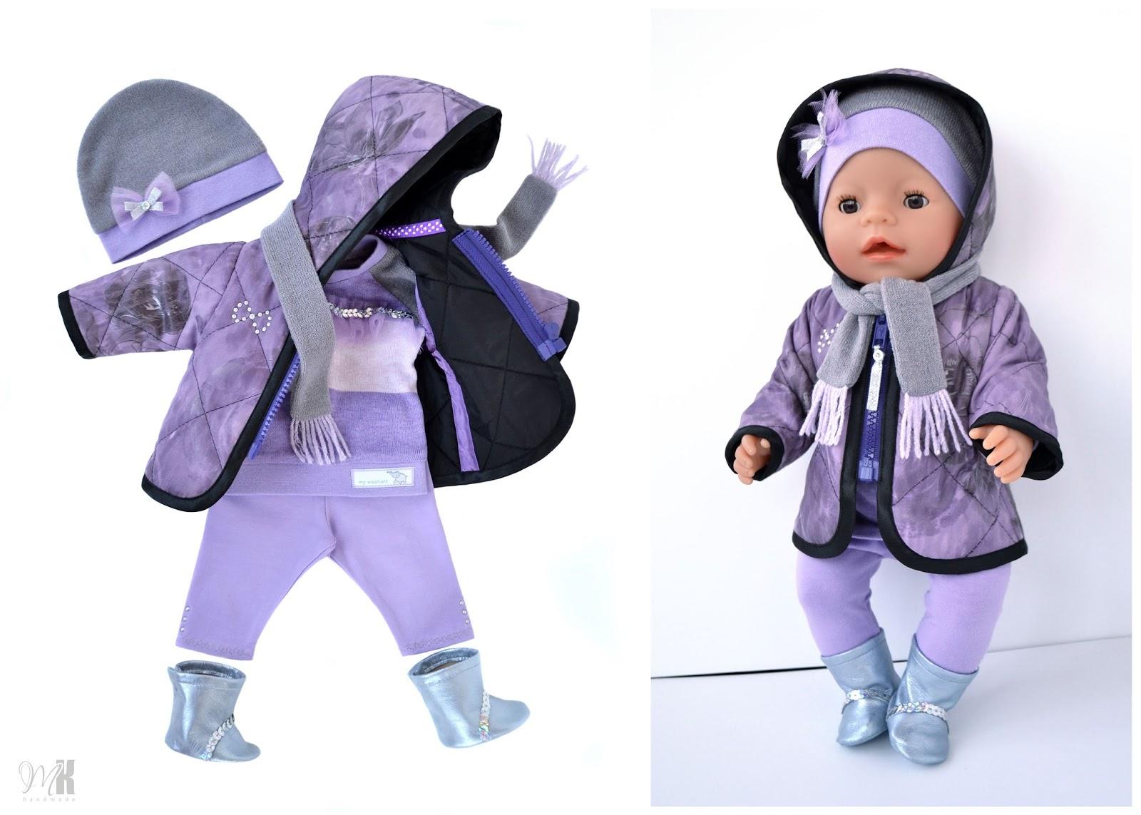 Сшить одежду для беби бона, выкройка в натуральную величину 31