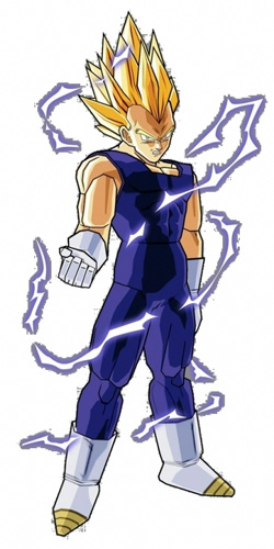dragon ball z vegeta super saiyan 2