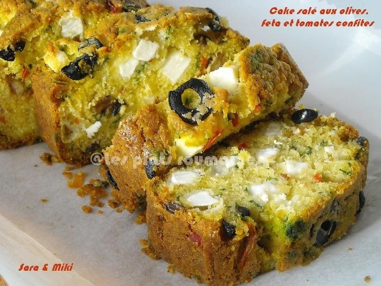 Cake Sal Ef Bf Bd Aux Olives Vertes Et Noires