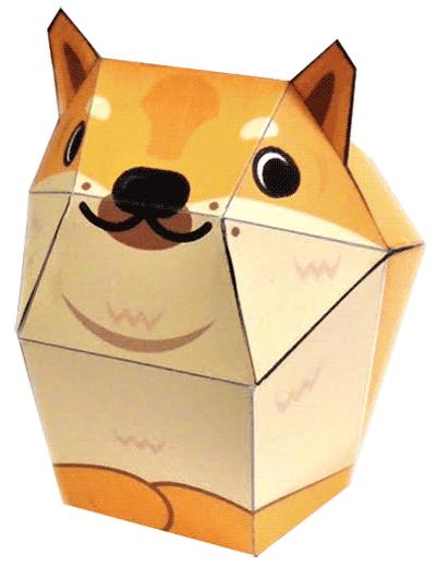 Doge Papercraft