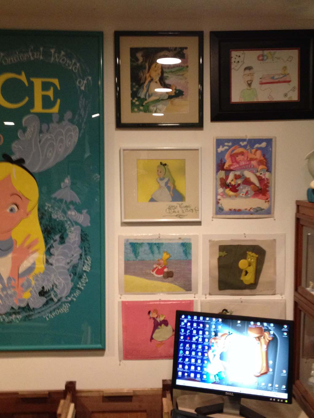 Vintage Disney Alice In Wonderland One From The Wall