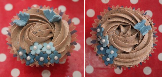 Cupcakes de vainilla y chocolate - El dulce mundo de Nerea