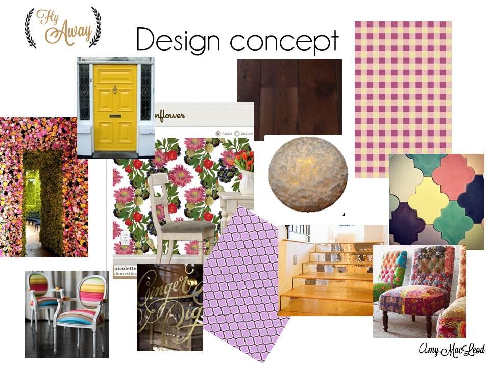 Portfolio piece colourful coffee shop design five