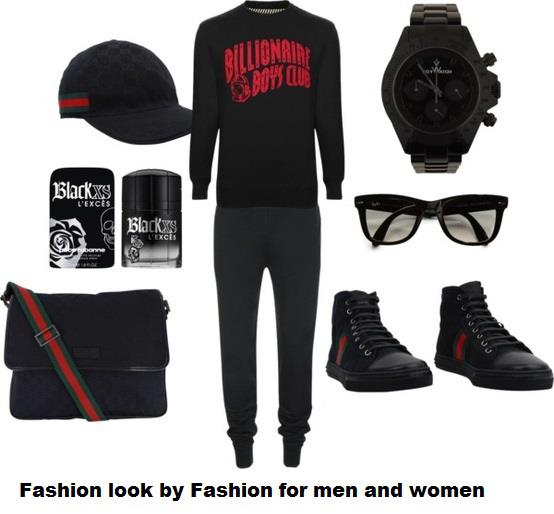 Black dress and other accessories for men