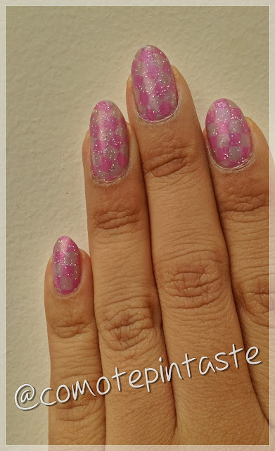 nail art, rombos, diamonds, farmacity, esmalte, gris, grey, pink love