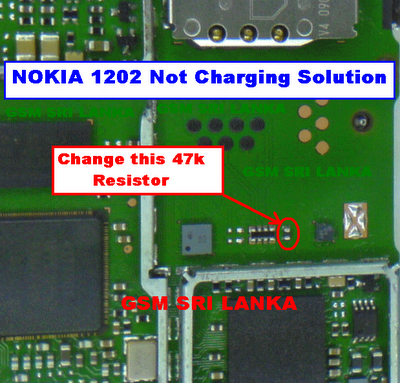 NOKIA 1202 Not charging Solution