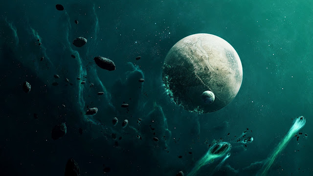 Planets Moon Asteroids HD Wallpaper