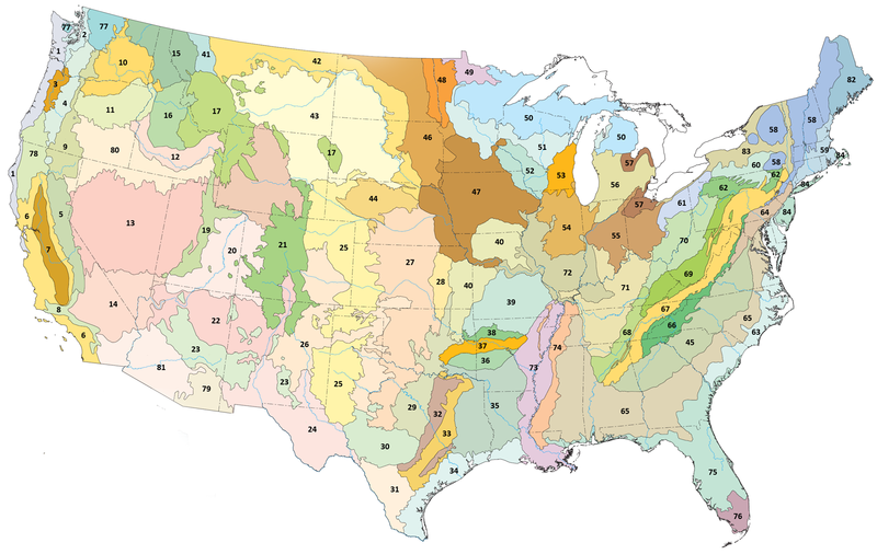 The Old Spanish Trail Documentation Project Climate Physiography - Us climate regions map