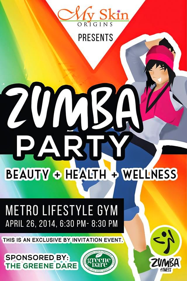 Celebrate beauty health wellness with a zumba party miss my skin origins in cooperation with the greene dare celebrates beauty health wellness with the my skin origins zumba party dance and groove your way stopboris Choice Image