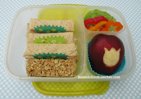 Rectangle tea sandwiches, bento school lunches
