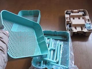 IKEAのワゴンRASKOG・組み立てる前にねじ類&部品&工具を確認。