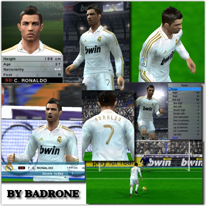Update Face C  Ronaldo By Badrone Para O Patch PES 2012 Completo No