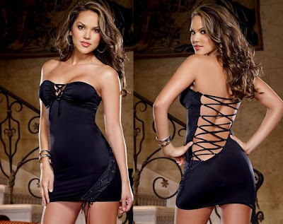 LingerieDiva.com - French Curve Lace Up Dress