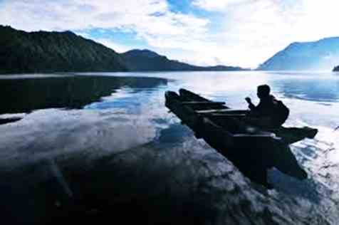 Pesona alam di wisata Danau gunung tujuh kerinci Jambi