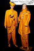 Baju Pengantin - Baju Layang Kuning dan Kebaya Kuning untuk disewa
