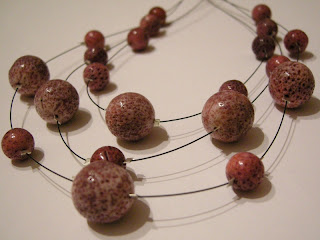 biżuteria z półfabrykatów - 3 razy koral (korale)