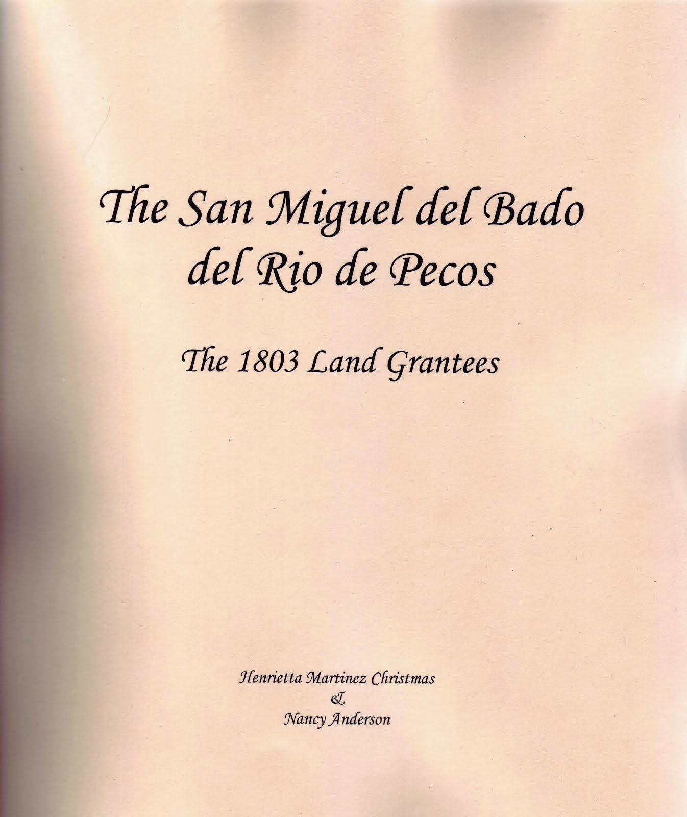 San Miguel del Bado Land Grant