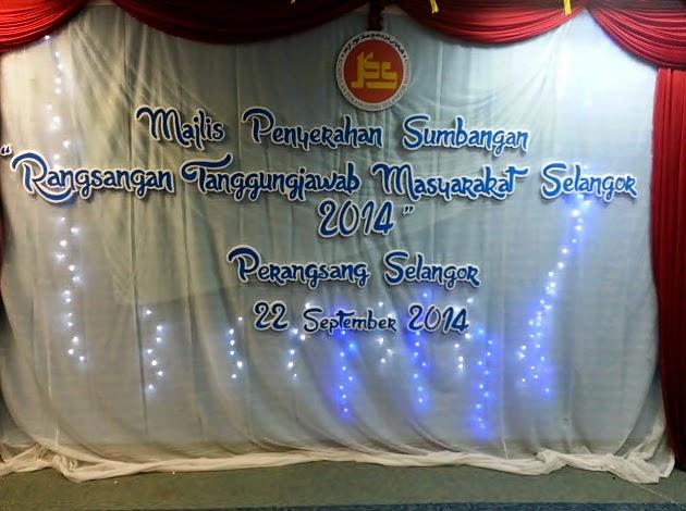 Majlis Sumbangan Oleh Kumpulan Perangsang Selangor.