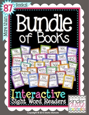 "Bundle of Books - one customer said ""Hands down my favorite download on TPT! I pick a book each week to have my kiddos do. They love it!"""