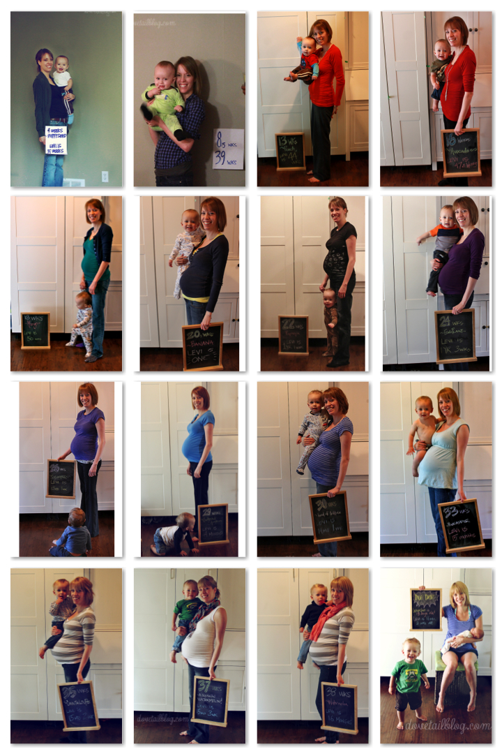 Tracking the Pregnancy Belly Bump {Round Two}