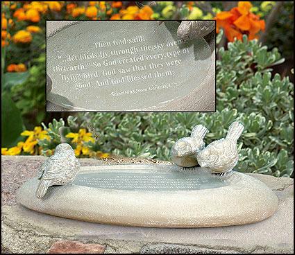 Bon Tabletop Bird Bath